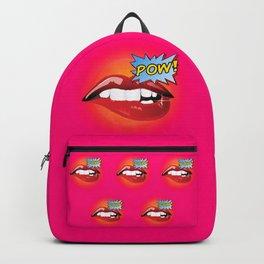 Pow! Sexy lips Fashion Pop Art Backpack