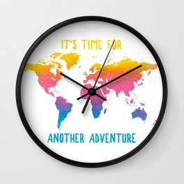 COLOR ME BOHO - IT'S TIME FOR ANOTHER ADVENTURE Wall Clock