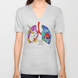 Breathe it's Ok! Some Bunny Loves You! Unisex V-Neck