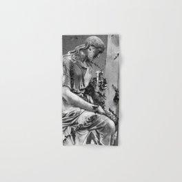 sad female statue Hand & Bath Towel