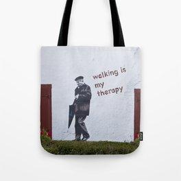 A Gentleman goes walking; Camino to Santiago de Compostela Tote Bag