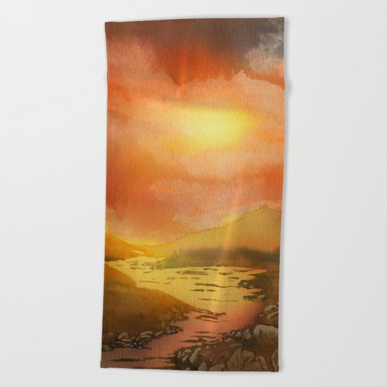 Calling The Sun XIX Beach Towel