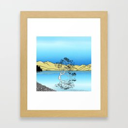 Lake Wanaka tree Framed Art Print