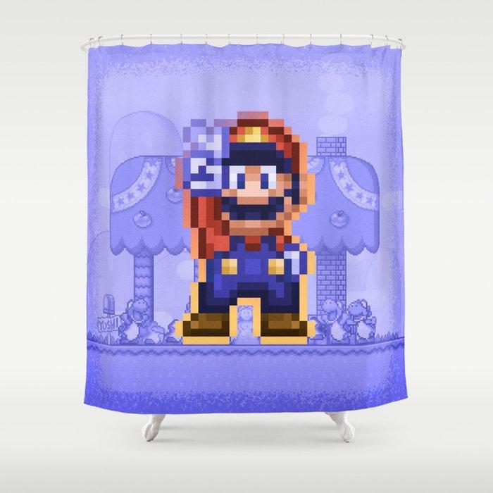 Peace Mario Shower Curtain