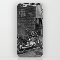 motorcycle iPhone & iPod Skins featuring Motorcycle by Cydney Melnyk Photography