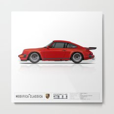 Porsche 1987 Carrera 3.2 India Red Marek Dzik Metal Print