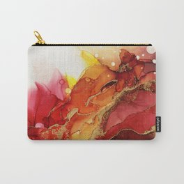 Golden Flame Abstract Ink - Part 1 Carry-All Pouch