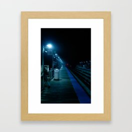 The Blue Station Framed Art Print