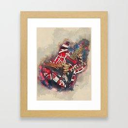 Eddie Van Halen's electric guitar Framed Art Print