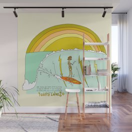 surf legend gerry lopez lightning bolt retro surf art by surfy birdy Wall Mural