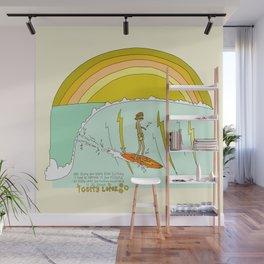 surf legend gerry lopez lightning bolt retro surf art by surfy birdy Wall Mural