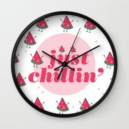 just chillin Wall Clock