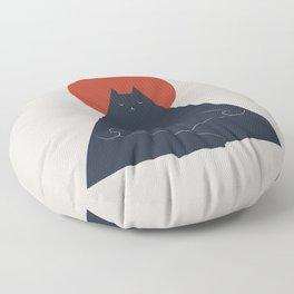 Cat Landscape 63: Meow-ditation Floor Pillow