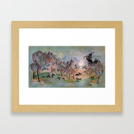 Dragon Hills Framed Art Print