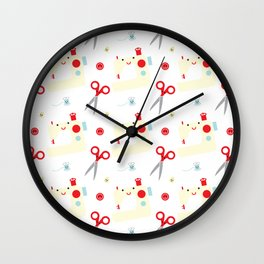 Sewing fun Wall Clock