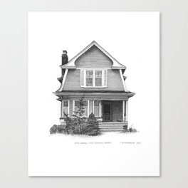Dutch Gambrel, Leslieville - Architectural Styles of Toronto Houses Canvas Print
