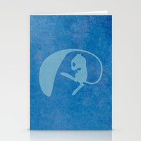 mew Stationery Cards featuring Shiny Mew by JHTY