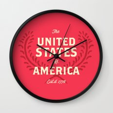 The United States of America Wall Clock