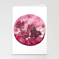utena Stationery Cards featuring Utena x Anthy by Ravenno