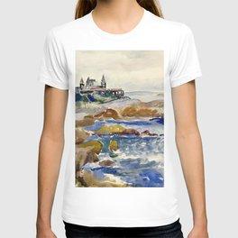 Marblehead, Massachusetts Corinthian Yacht Club coastal New England nautical landscape painting by Hayley Lever T-shirt