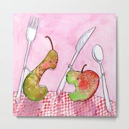 Food Fight Metal Print