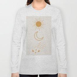 Sun, Moon and Stars #society6 #buyart Long Sleeve T-shirt