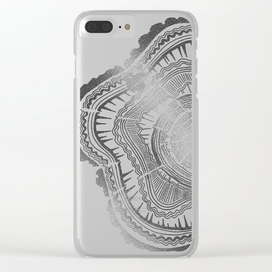 Growth Rings – 65 Years – Silver Clear iPhone Case