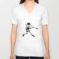 baseball V-neck T-shirts featuring Baseball by Lukas Klepke