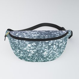 Aqua Purple Ombre Glitter #4 #decor #art #society6 Fanny Pack