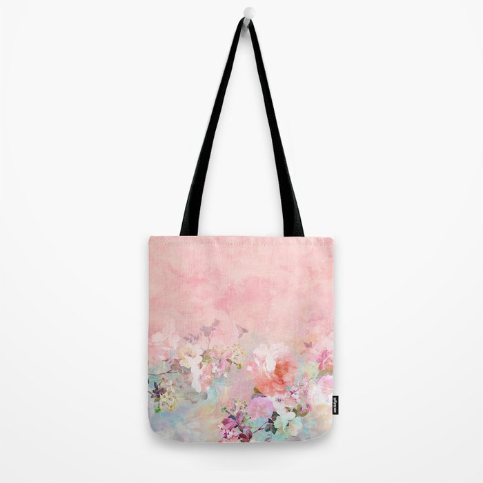 Modern blush watercolor ombre floral watercolor pattern Tote Bag