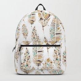 Boho Festival Feather Backpack