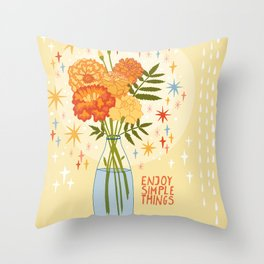 Enjoy simple things Throw Pillow