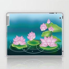 Lotus Flower with Leaves Laptop & iPad Skin