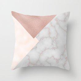 Bermuda bronze - rose gold marble. Throw Pillow