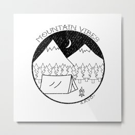 Mountain Vibes Metal Print