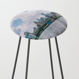 1513 - Philadelphia Cityscape from New Jersey Counter Stool