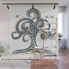 Geometric Tree Wall Mural