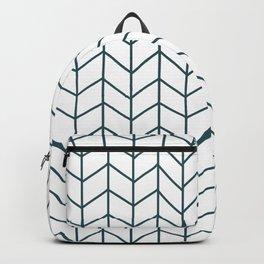 Deep Teal Herringbone Backpack