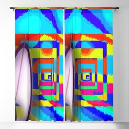 Paradise for May in May - shoes stories Blackout Curtain