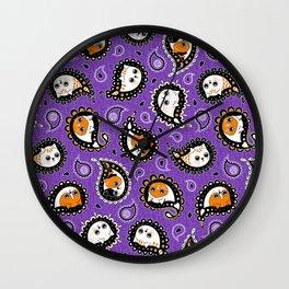 Cat Paisley Halloween Wall Clock