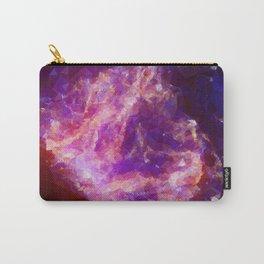 Purple geometric pattern Carry-All Pouch
