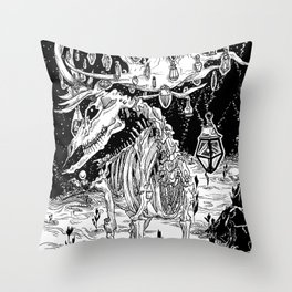 I'll help you to disappear ... If you let me your essence Throw Pillow