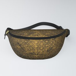Dark Matter - Gold - By Aeonic Art Fanny Pack