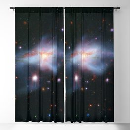 Pair of colliding galaxies called NGC 6240 Blackout Curtain
