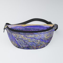 Lavender Fields with Rising Sun by Vincent van Gogh Fanny Pack