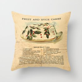 Fruit Cakes - Vintage Throw Pillow