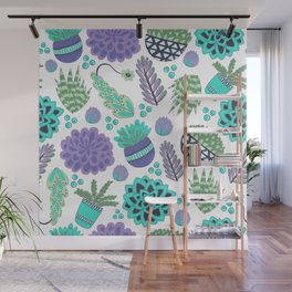 Succulents Pattern Wall Mural