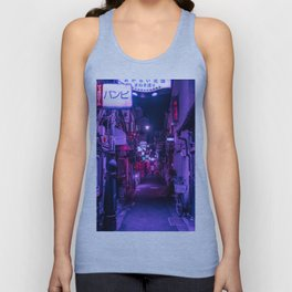 Purple Hues of Golden Gai  Unisex Tank Top