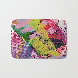 Nordic art, abstract print, abstract painting, abstract art print, abstract wall art, pink and blue Bath Mat