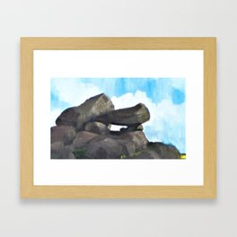 Study of Rocks Framed Art Print